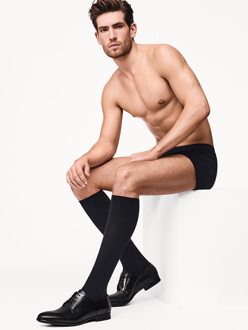 Cotton Velvet Knee-Socks